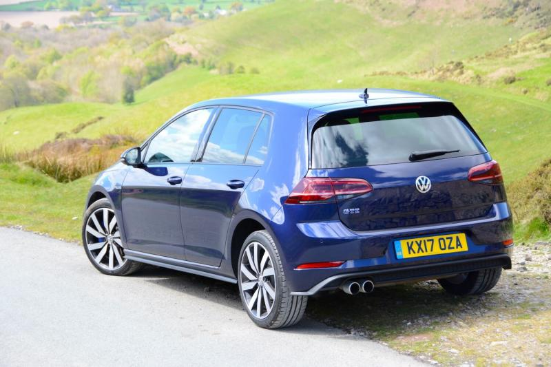 Dark blue VW Golf GTE